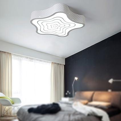 Plafoniera di moda bianca / semplice plafoniera a LED per camera da ...