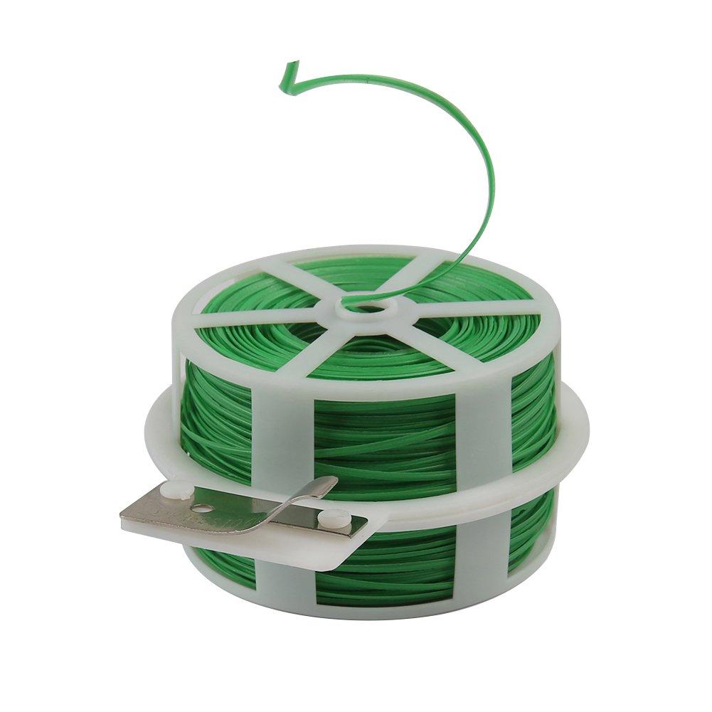 fil de cravate pour jardinage jardin 328/Pieds Twist cravates avec cutter maison bureau Shintop Attaches de jardin pour plantes Vert