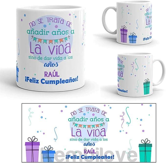 Kembilove Taza de Café Cumpleaños – Taza de Desayuno con Frase Personalizada Cumpleaños – Taza de Café y Té para Amigos – Taza de Cerámica Impresa – Tazas de de 350 ml Amigos: Amazon.es: Hogar