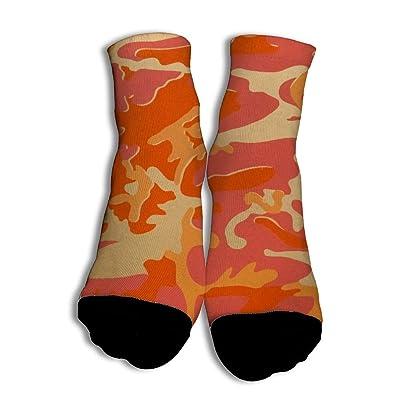VenenoDulce Orange camouflage Suave Calcetines únicos de corte bajo con 100% Algodón para Adolescentes Partido de baloncesto White: Ropa y accesorios