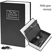Book Safe with Key Lock-HENGSHENG Dictionary Diversion Secret Book Safe,Love Size 9.5 x 6.1 x 2.1 inches-Black