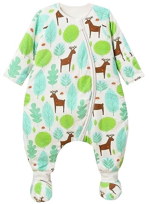 Happy Cherry - Bebés Saco de Dormir Infantil de Algodón con Zapatos Desmontable para Otoño Invierno