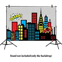Allenjoy 7x5ft photography backdrops superhero super city skyline buildings children birthday party event banner photo studio booth background baby shower photocall Vinyl material