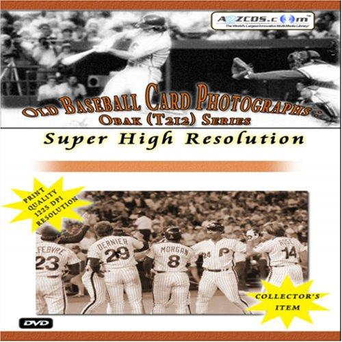 Old Baseball Card Photographs - Obak (T212) Series Super High Resolution (2-DVD Set)