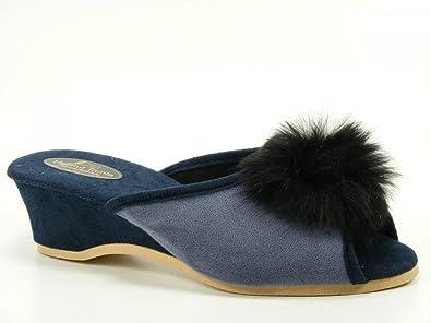bieten viel schnell verkaufend Modern und elegant in der Mode Helmut Trunte Schuhe Damen Hausschuhe Pantoffeln 11230 Tinte ...
