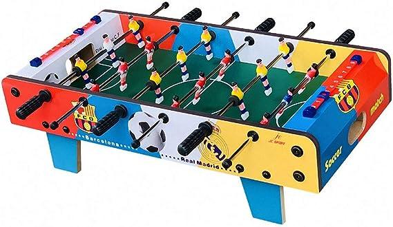 CBA BING Compacto Mini Mesa de futbolín en la Tabla de Madera fácilmente Montar el Juego de fútbol de Mesa w balones para Salas de Juegos para Adultos Noche Familiar: Amazon.es: Deportes
