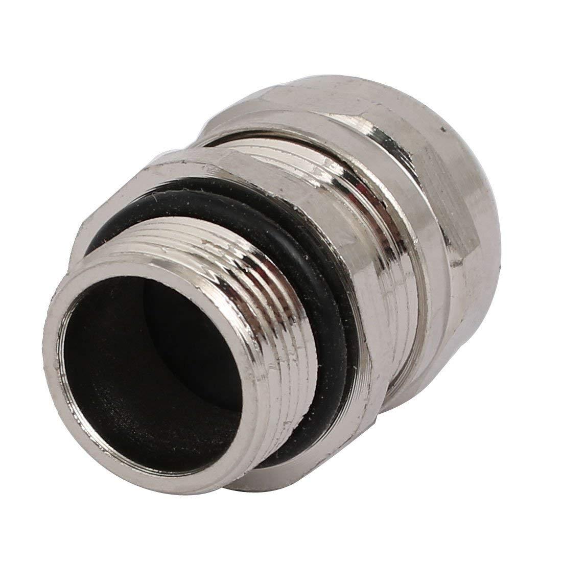 5//8-inch Fil 3mm Dia 2 Trou M/étal Presse-/étoupe Joint Ton Argent