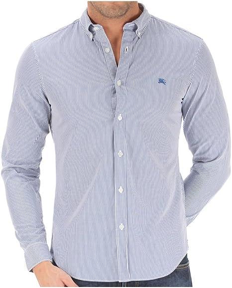 Burberry Camisa de rayas vestir para hombre azul azul: Amazon.es: Ropa y accesorios