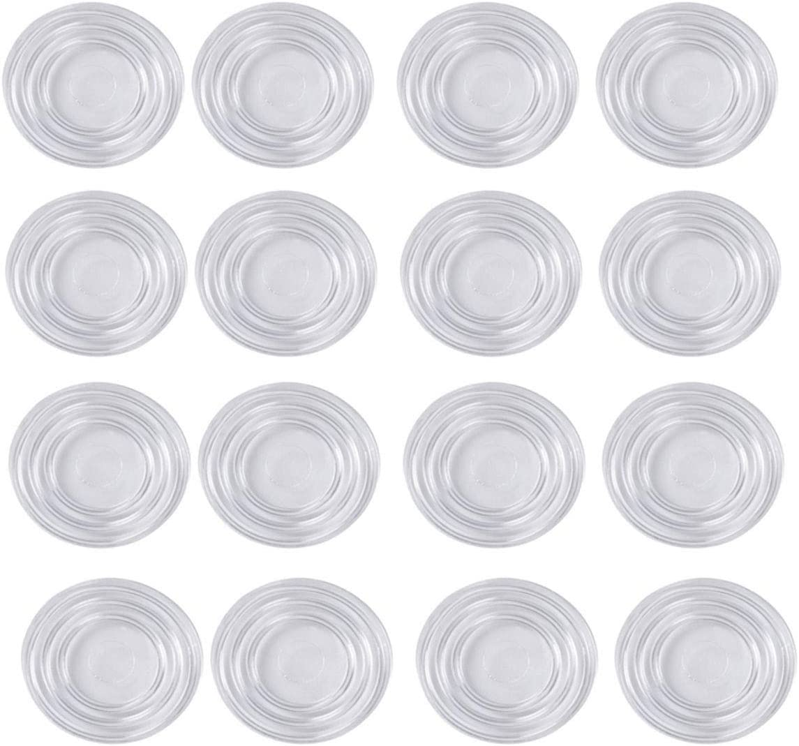PZRT 16pcs Glass Top Table Bumpers Round Shape Glass Table Non-Slip Soft Grip Pad Furniture Accessories