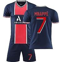 GWCUU Vuxen/barn fotbollströja fotbolls-t-shirt, Paris hem/bort nr.7 tröja, minnesmärke kortärmad fotbollströjor shorts…