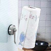 YOHOM Kitchen Paper Roll Holder Suction Cup Towel Holder Dispenser Stainless Steel Tissue Hanger Organizer Kitchen…
