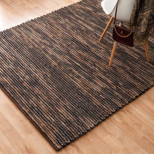 Alexander Home Hand-woven Thais Coconut Felted Wool Rug (5' x 7'6) by Alexander Home