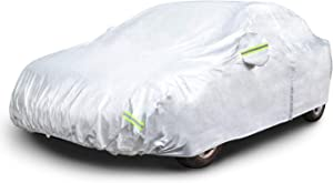 AmazonBasics Silver Weatherproof Car Cover - 150D Oxford, Sedans up to 170""