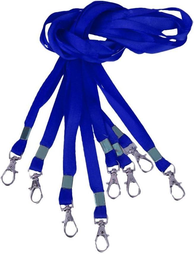 DyNAmIte Cordino da collo con clip in metallo per biglietti da lavoro per foto e portachiavi 1 1 pezzo blu. 1 cm