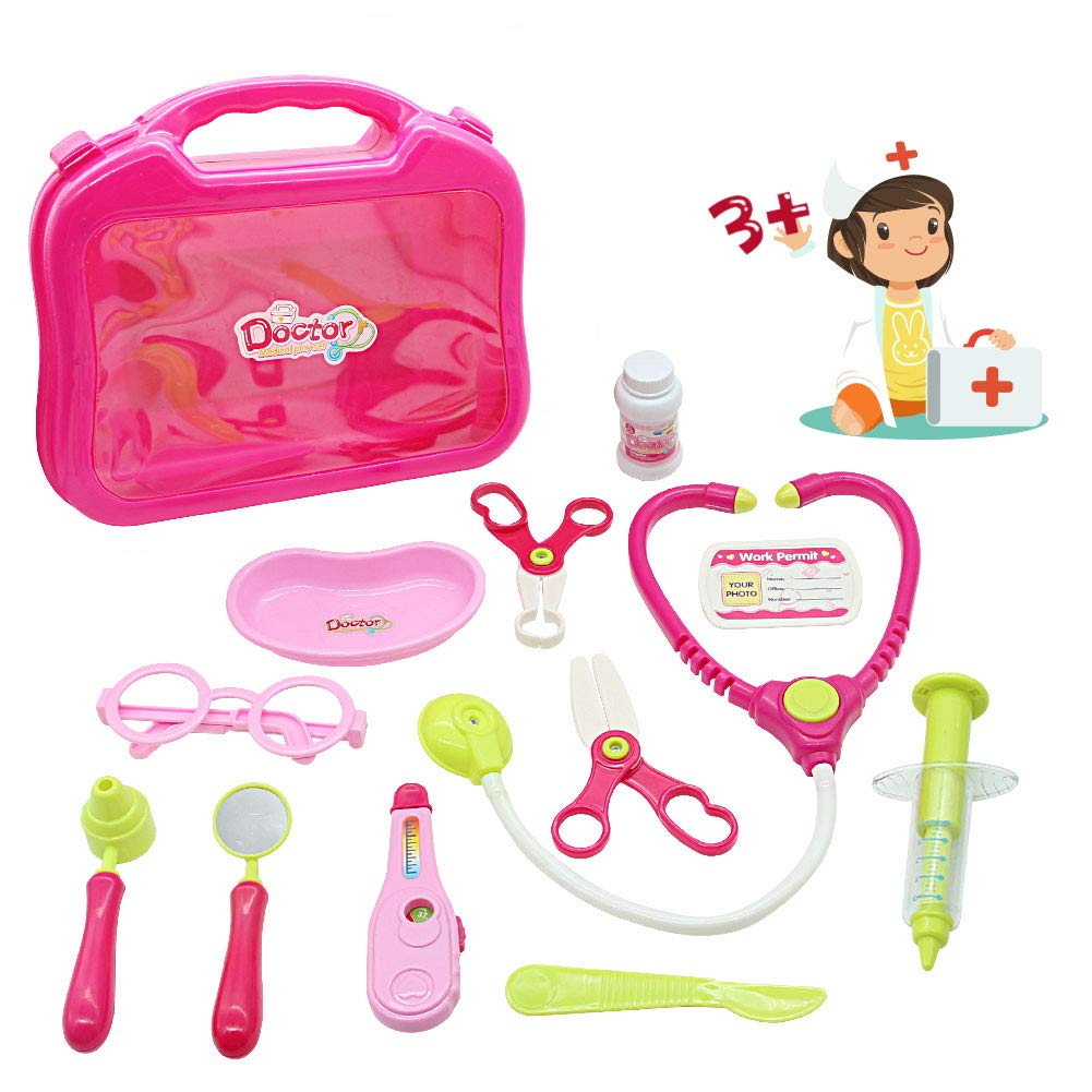 Doctor Kit Toys Kids Medical Pretend Play Game Doctor Set Cute Carrycase for Toddlers 3 4 Year Old