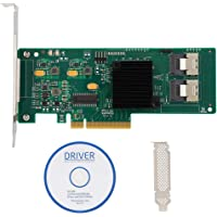 PCIe SATA kaart, 8-poorts PCIe SAS/SATA controllerkaart 6 Gbit/s voor SAS 9211-8i 2008E SATA3 4T harde schijf, LSI 2008…