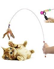 Diawell Katzenangel mit Glocke Angel Spielangel für Katzen Katzenspielzeug Katze Spielzeug