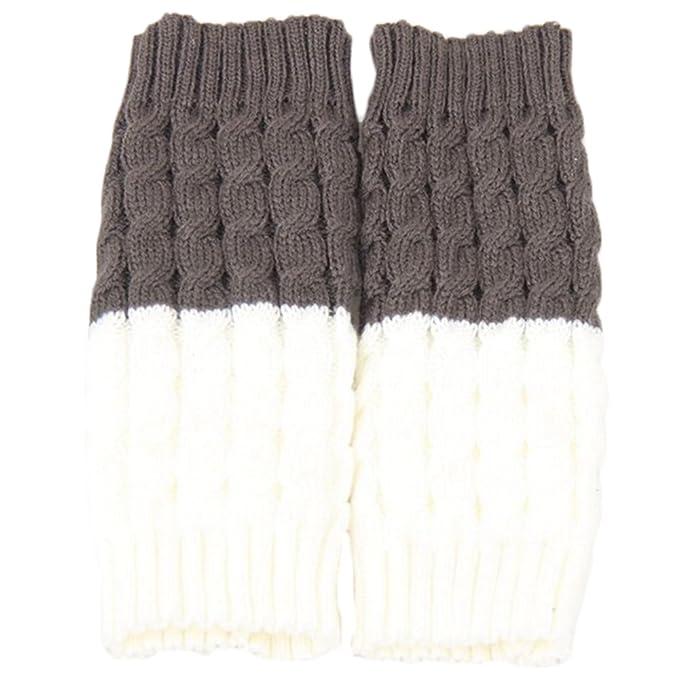gotoole calentadores de la pierna Calcetines de Hombre para mujer de ganchillo suave invierno cálido Toppers Puños de punto: Amazon.es: Ropa y accesorios