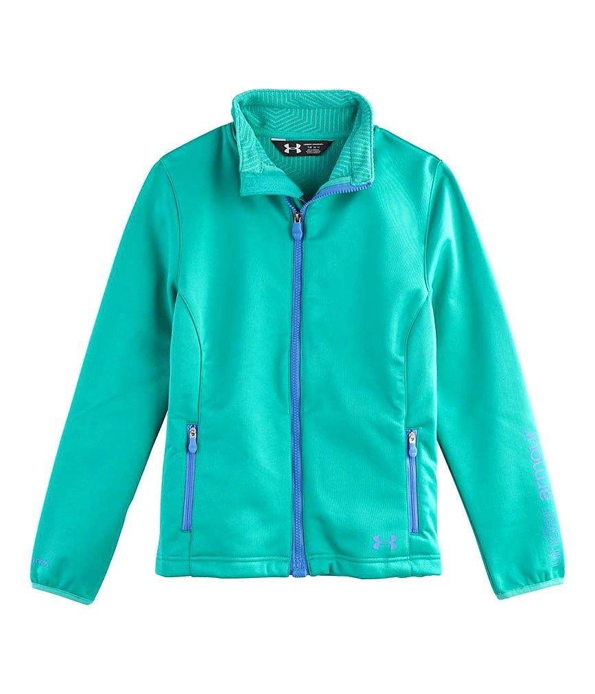 Under Armour Girls' UA ColdGear Infrared Softershell Jacket Gazebo Green / Water Medium