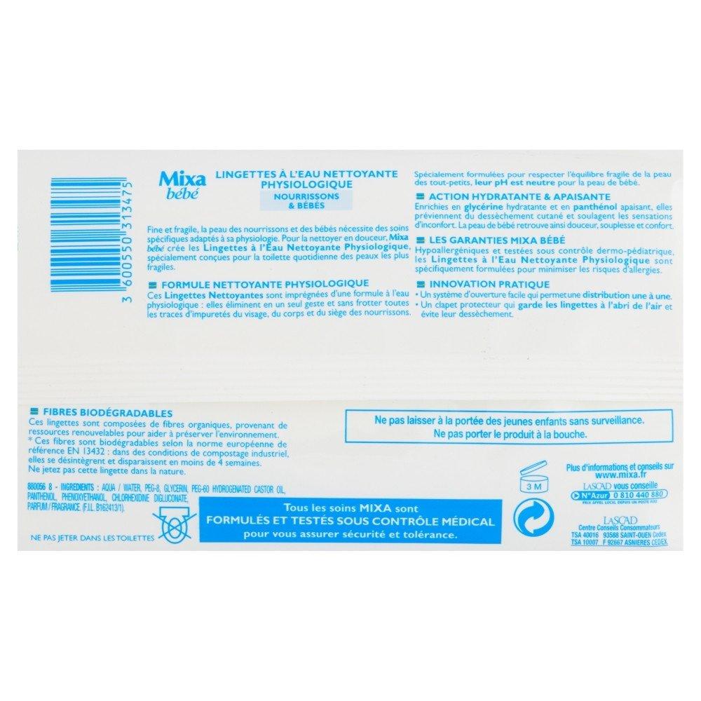 Mixa B/éb/é 72 lingettes Nettoyantes et Physiologiques nourrissons /& b/éb/é