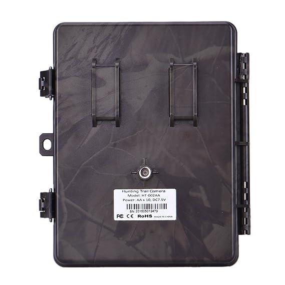 Cámara de exterior de visión nocturna, 16 MP, 1080p, infrarrojos, detección de movimiento, para caza, exploración, vigilancia: Amazon.es: Deportes y aire ...