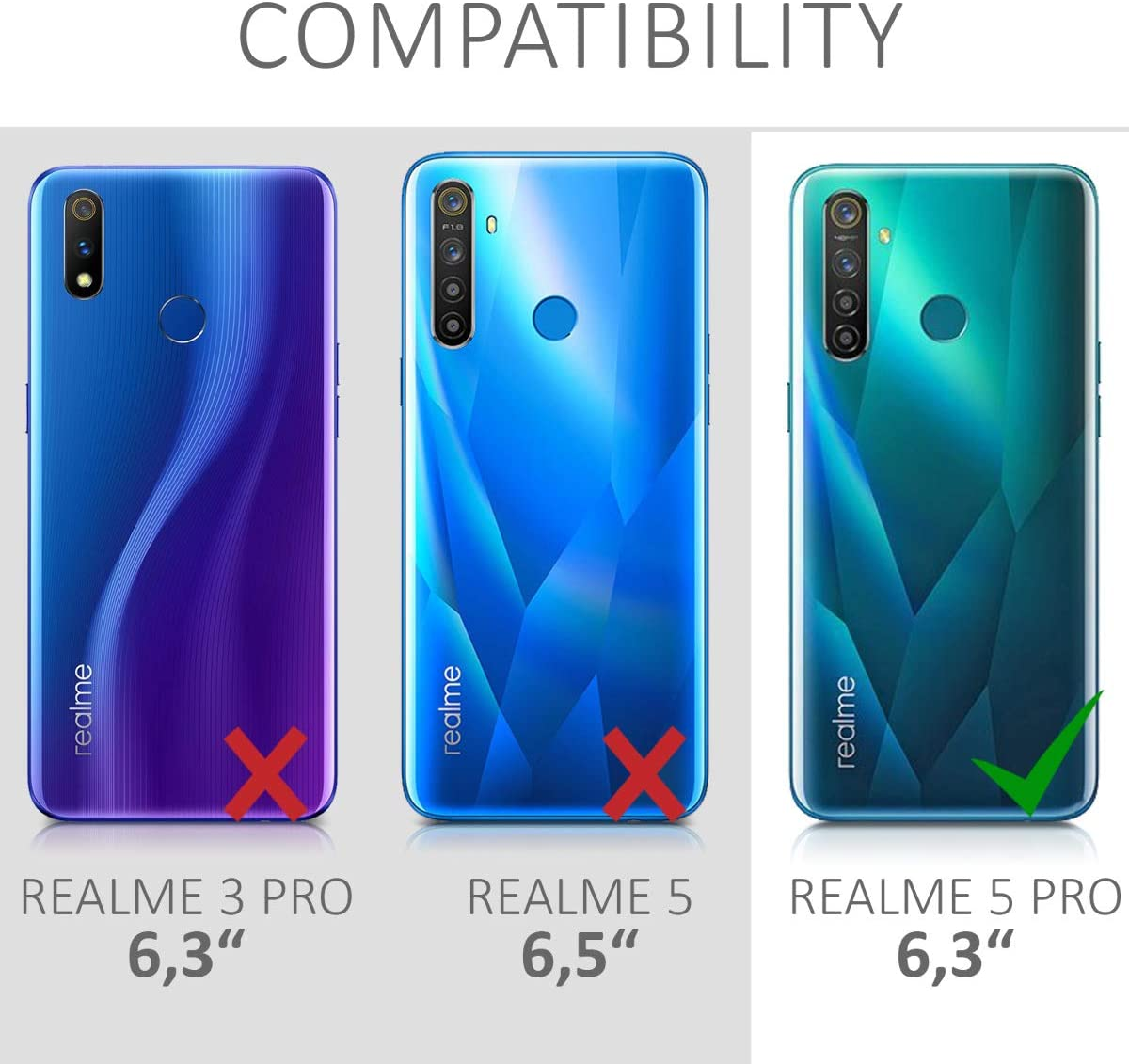 kwmobile Funda Compatible con Realme 5 Pro: Amazon.es: Electrónica