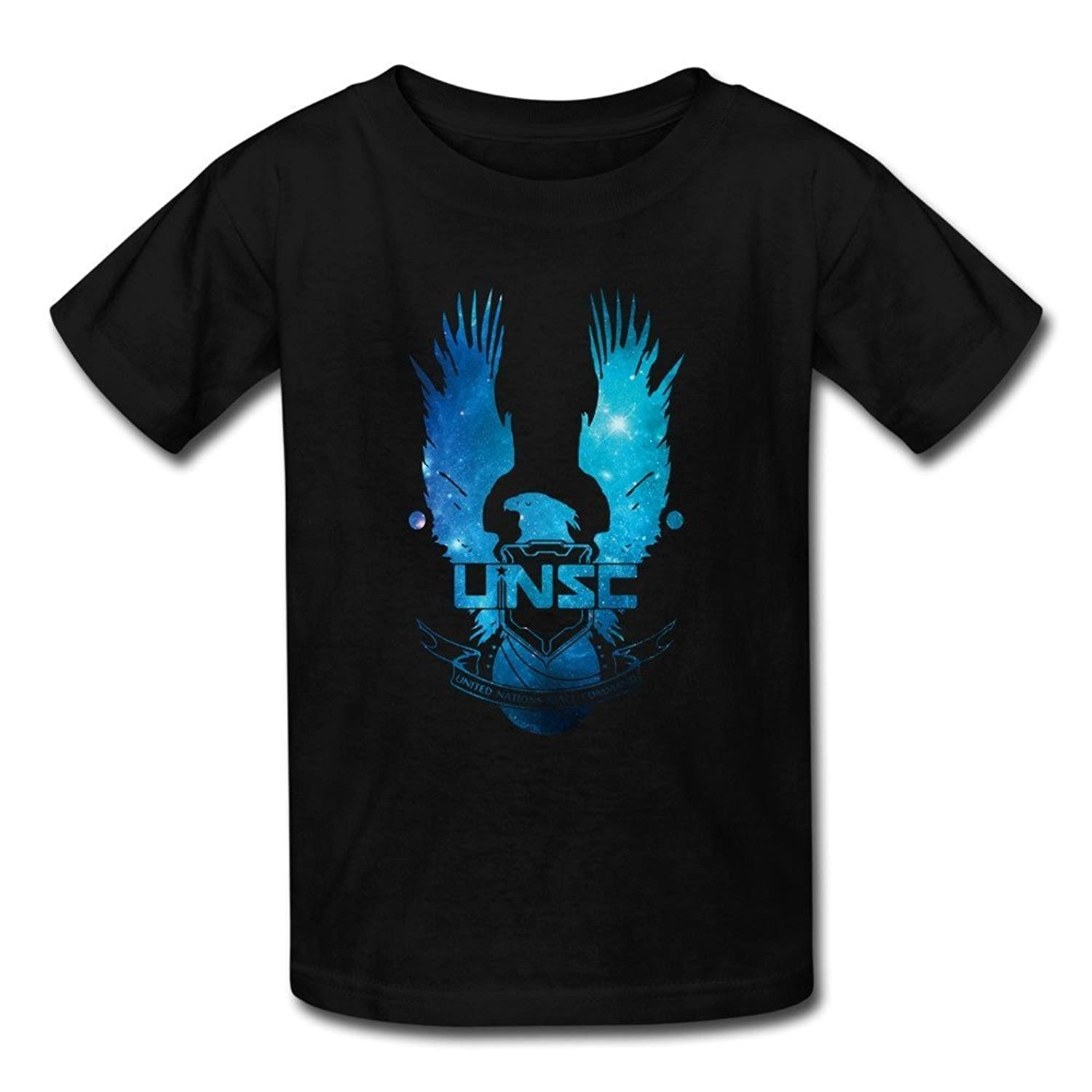 Youth's Halo 5 Guardians UNSC Eagle Logo T-shirts Black