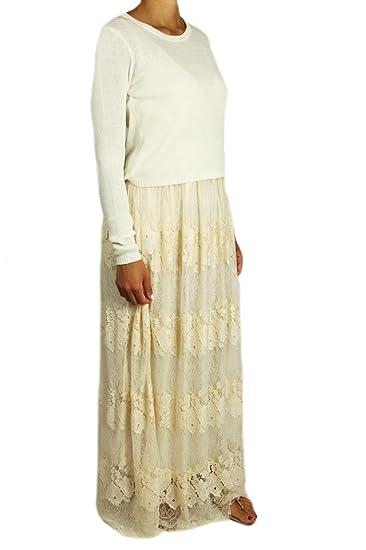 1cd1c055fb Abito lungo Sintetico Donna L SILVIAN HEACH: Amazon.it: Abbigliamento