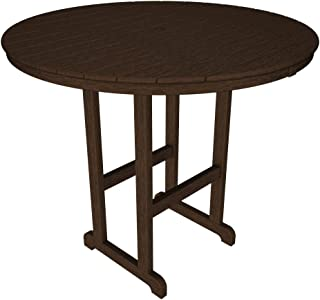 product image for POLYWOOD RBT248MA Round Bar Table, 48-Inch, Mahogany