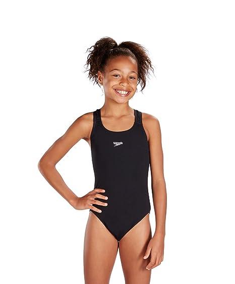 40767ceaf2 Speedo Girls Essential Endurance+ Medalist Swimsuit  Amazon.co.uk ...