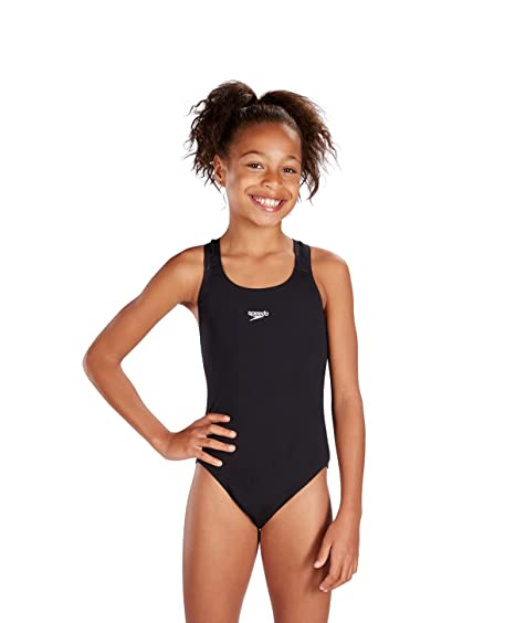 963bd141358de Speedo Girls Endurance Plus Medalist Swimsuit in Black or Red (24, Black)