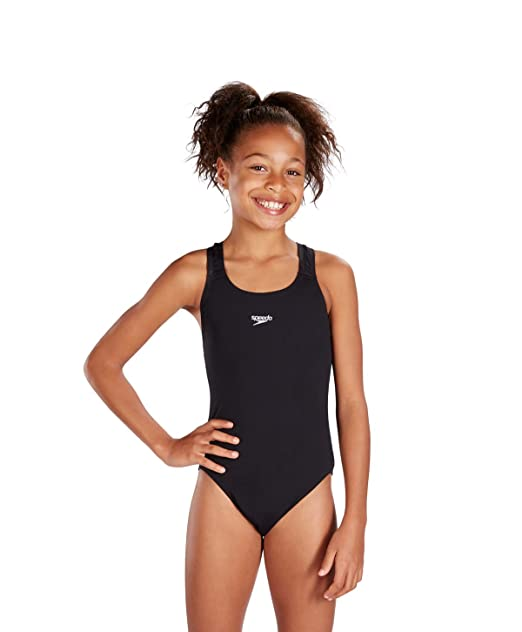 3ff3a53cddf Speedo Girls Endurance Plus Medalist Swimsuit in Black or Red (24, Black)