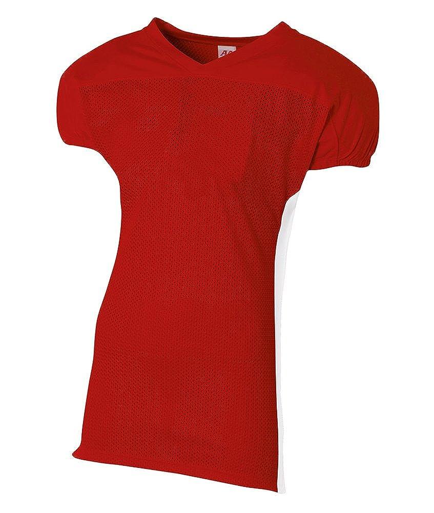 a4 Womens TopflightヘザーVネックパフォーマンスTシャツ B00BPXOZ4S スカーレット/ホワイト S