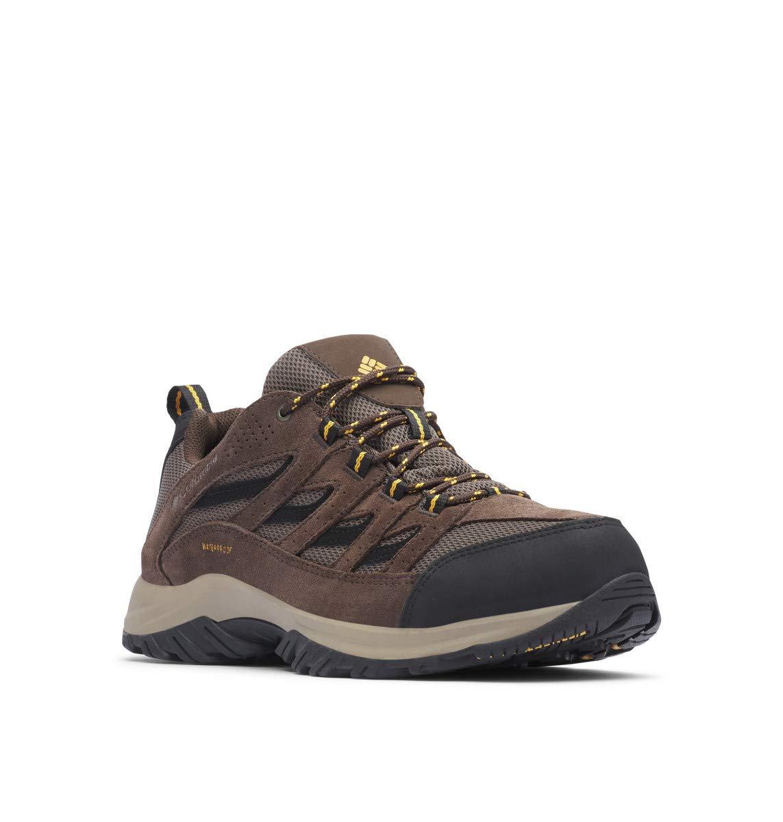 Columbia Men's Crestwood Waterproof Wide Hiking Shoe, mud, Squash, 15  Wide US