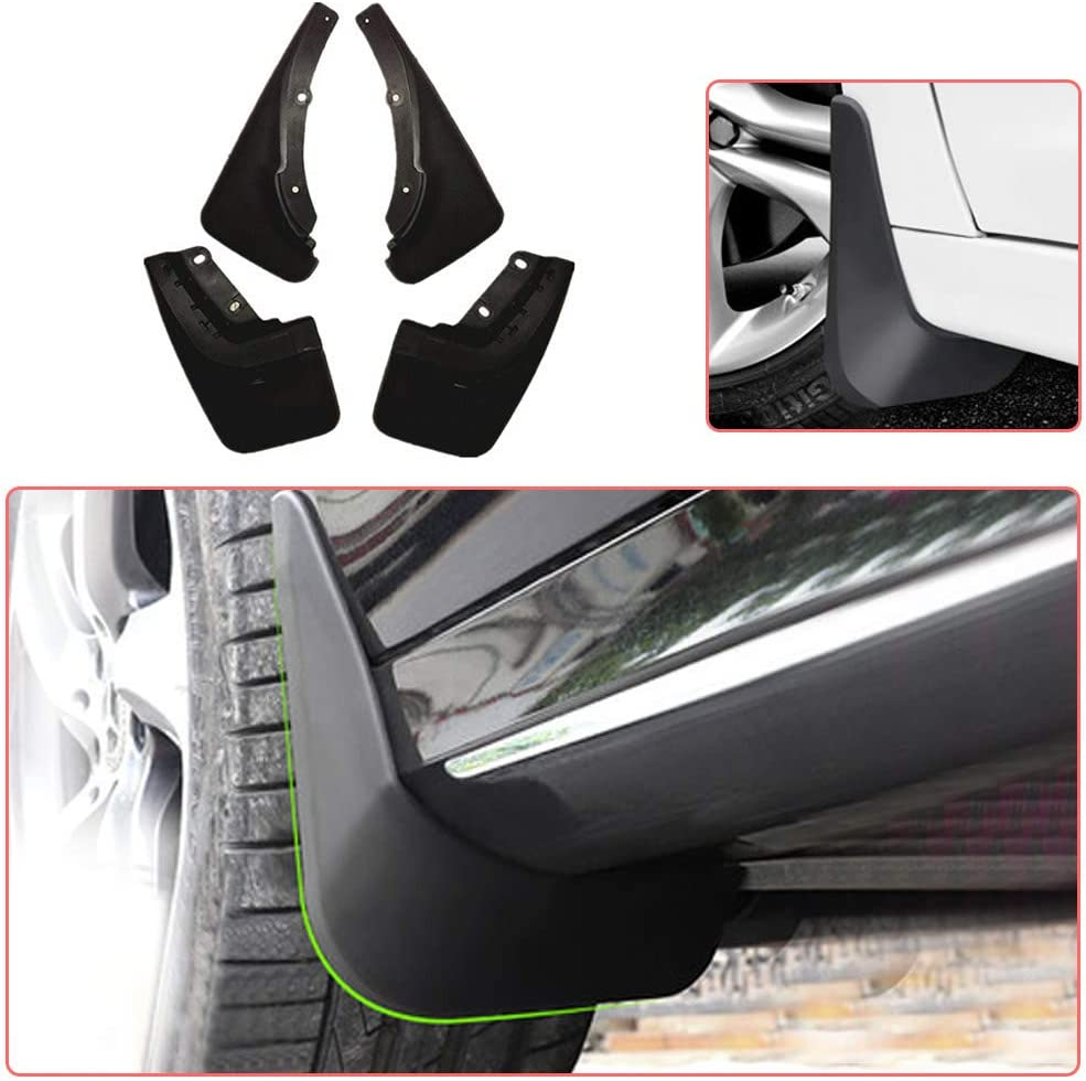 Upgraded Tire Mud Flaps Auto Splash Guards for 2018-2019 Mitsubishi Eclipse Cross Front Rear Mudguards Wheel Accessories Styling /& Body Fittings 4Pcs Black