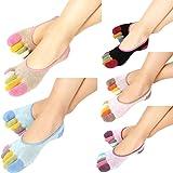 Inverlee Womens 5-Toe Colorful Yoga Gym Non Slip