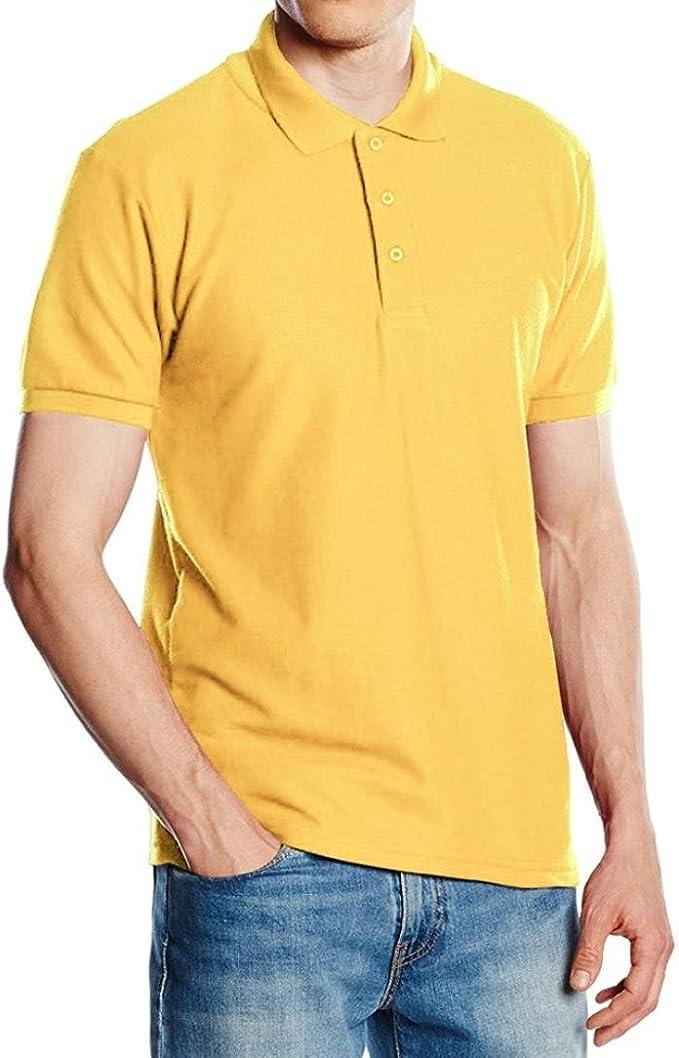 FAMILIZO Mens T Shirts Polos Manga Corta Hombre Polos Slim Fit ...