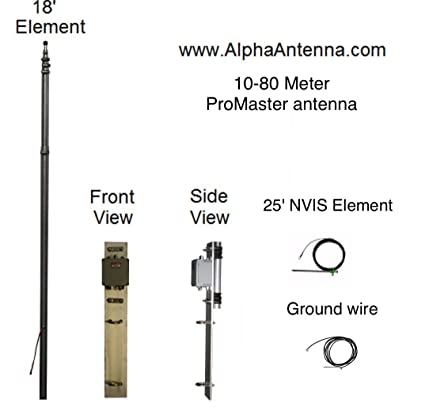 The h pole is a vertical multiband wire antenna for 160 10 meters