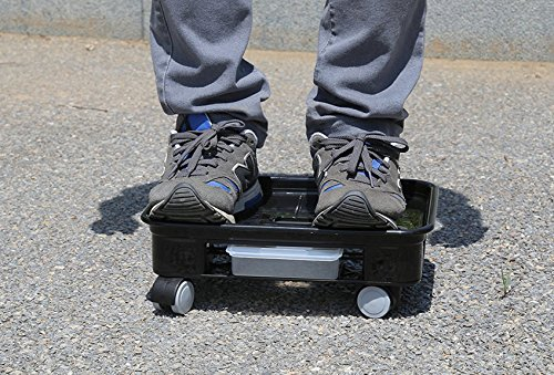 FUNNYGO Square Plant Saucer caddy Plant Dolly With Omni Wheels and Removable Water Tray (4#, Black) by FUNNYGO (Image #3)