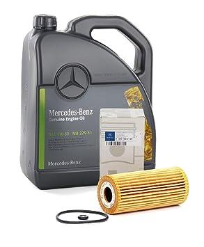 Recambios ORIGINALES Mercedes-Benz Aceite motor MB 229.51-5 litros + Filtro A6401800109 (