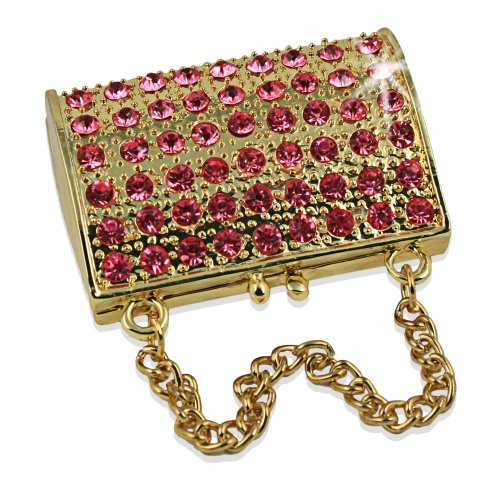 Objet D'Art Release 75 Goldie Ladies Handbag Purse Handmade Jeweled Metal  Enamel Trinket Box