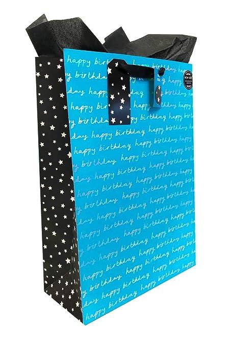 Bolsas de regalo de cumpleaños para hombre, tamaño XL, color ...