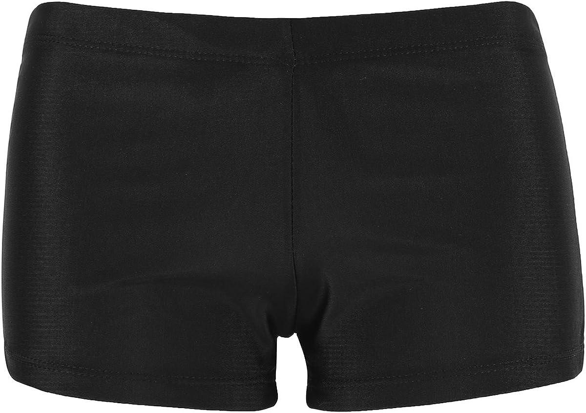 Agoky Damen Badeshorts Bikinihose Schwimmen Strand Beach Shorts mit verstellbarem Tunnelzug