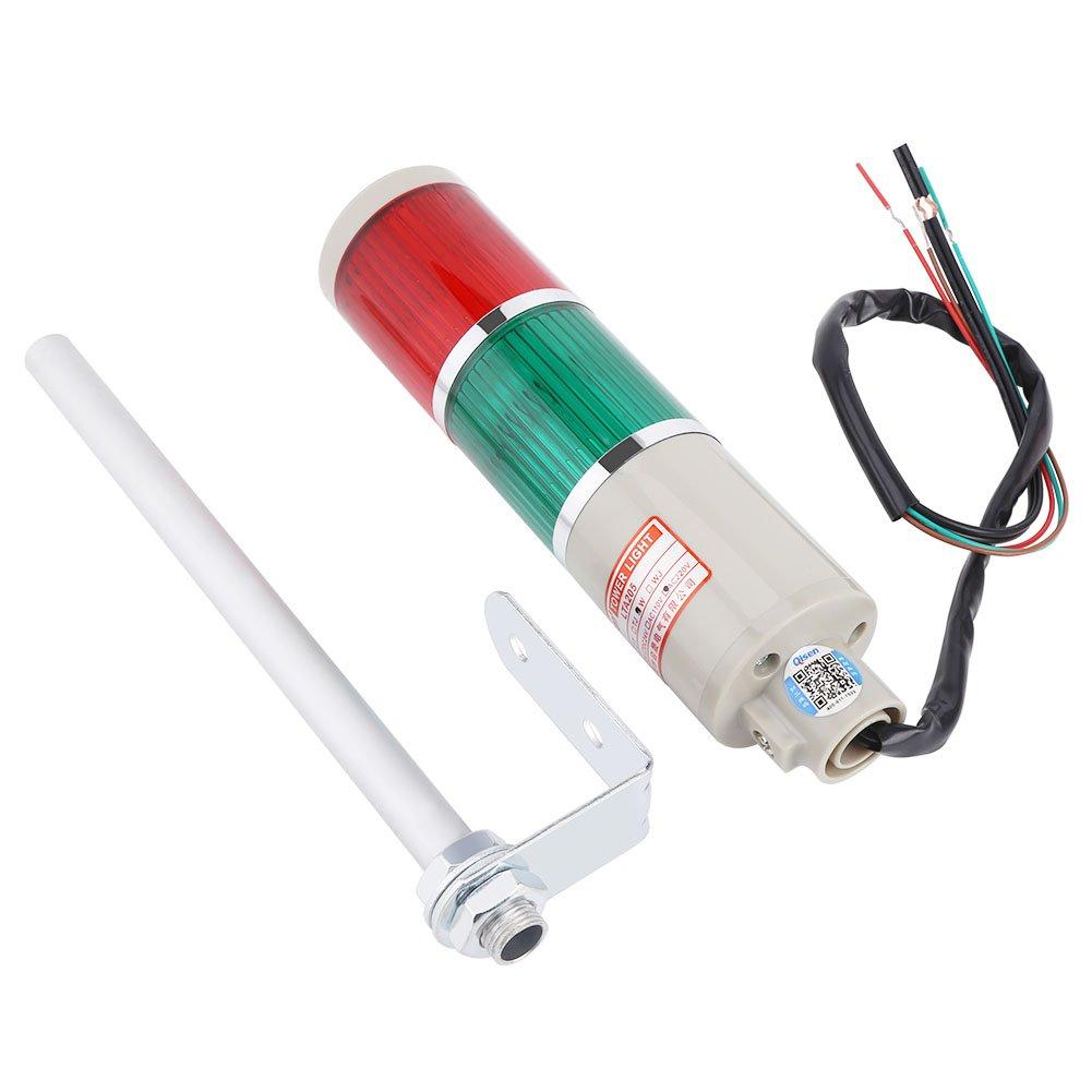 1pc LED rosso/verde Attenzione Apparecchio di emergenza Lampada per faro di segnalazione 220V Wal front