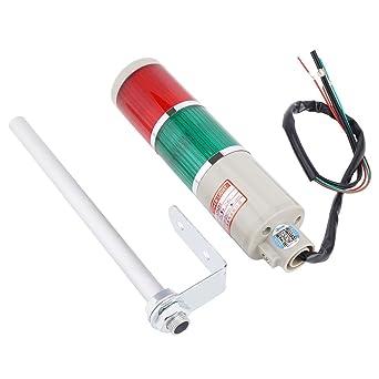 Faro, Jarchii Luz de baliza de alarma, CA 220V Rojo/Verde Práctica Baja potencia Altamente brillante LED Bombilla de iluminación de emergencia Lámpara de baliza para jardín Garaje Equipo mecánico: Amazon.es: Industria, empresas