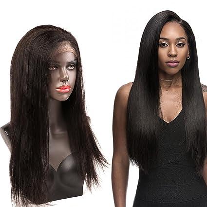 """Bella Hair 18"""" 360 Encaje Peluca Cierre Frontal Densidad 180% Cabello Virgen Humano Recto"""