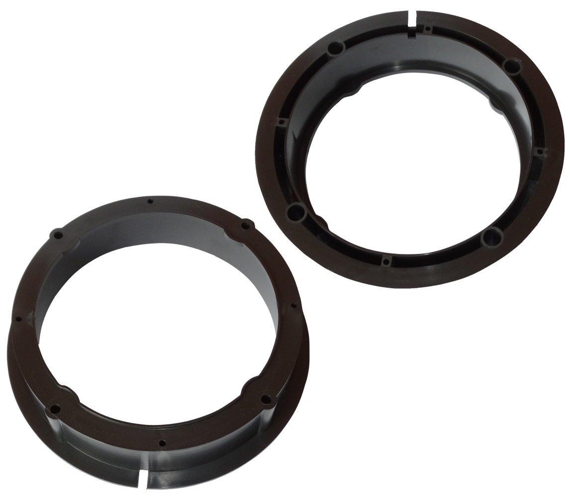 AERZETIX: 2 x Adaptadores soportes de altavoces 165mm para puerta delantera y trasera de coche, vehiculos SK2-C11612-A101