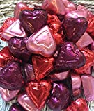 Red, Pink and Burgundy Assorted Milk and Dark Chocolate Hearts - 1 LB Madelaine Premium Valentine's Chocolate