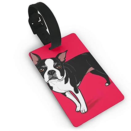 387fa3be18b8 Amazon.com | Boston Terrier Dog Luggage Tags - Bag Tag Travel ID ...