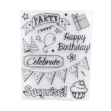 c-pioneer feliz cumpleaños diy, diseño de sellos hoja sello ...